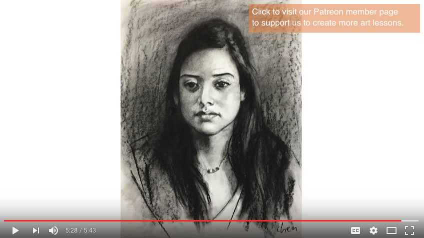 How to start a portrait drawing from live