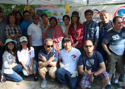 The Philippine Artists Group of Canada and friends together with Manny Baldemor in Mississauga, Ontario