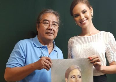 Cee Cadid with 2018 Miss Universe Catriona Gray