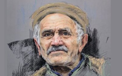 How to draw old man with soft pastel